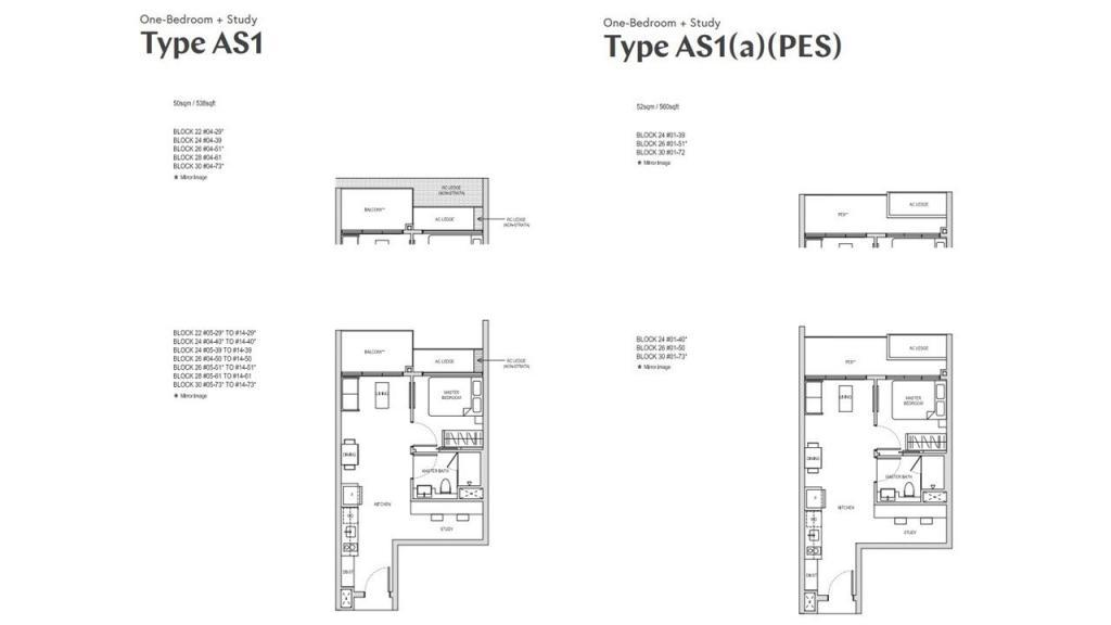 AFFINITY AT SERANGOON floor plan